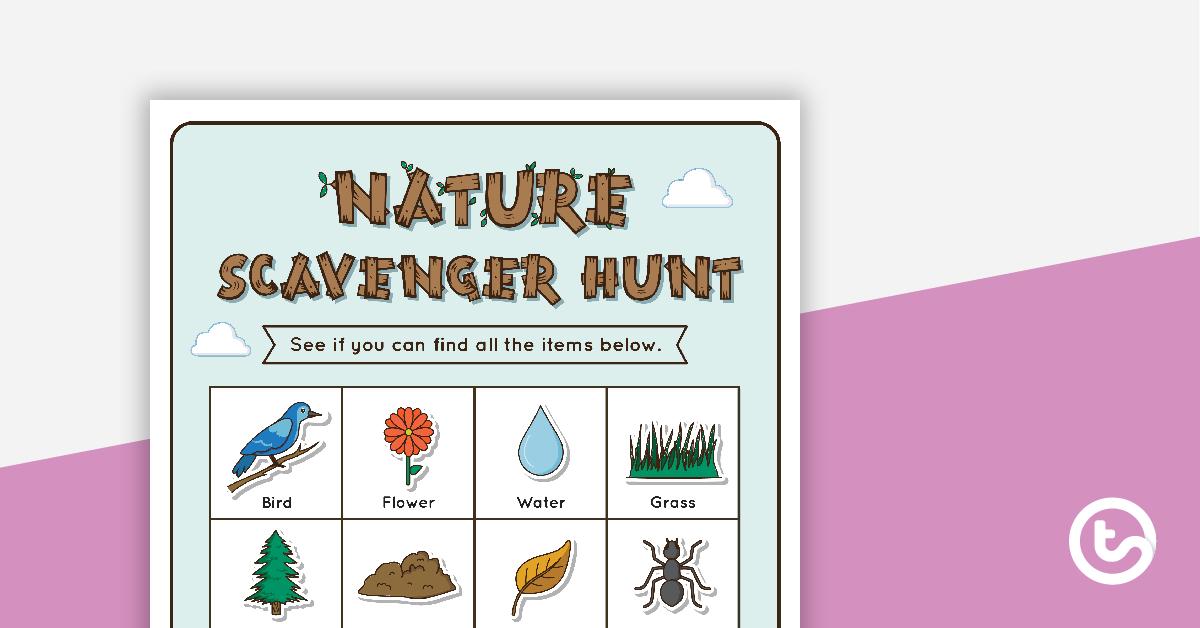 Nature Scavenger Hunt Grid Teaching Resource.