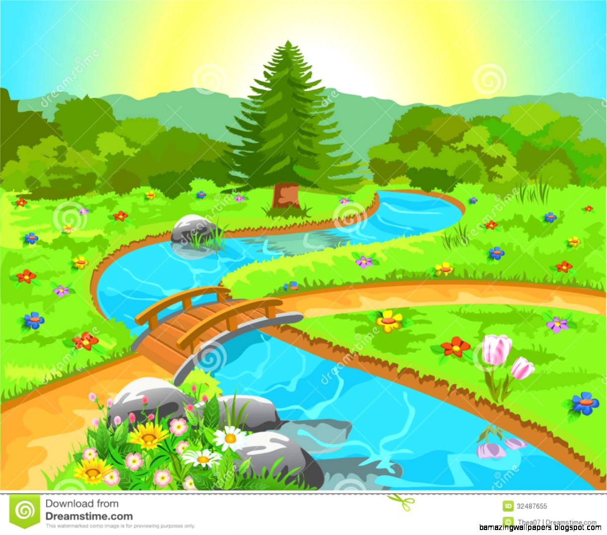 Clipart Of Nature Scenes.