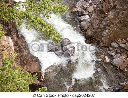Picture of Raging Mountain Stream.