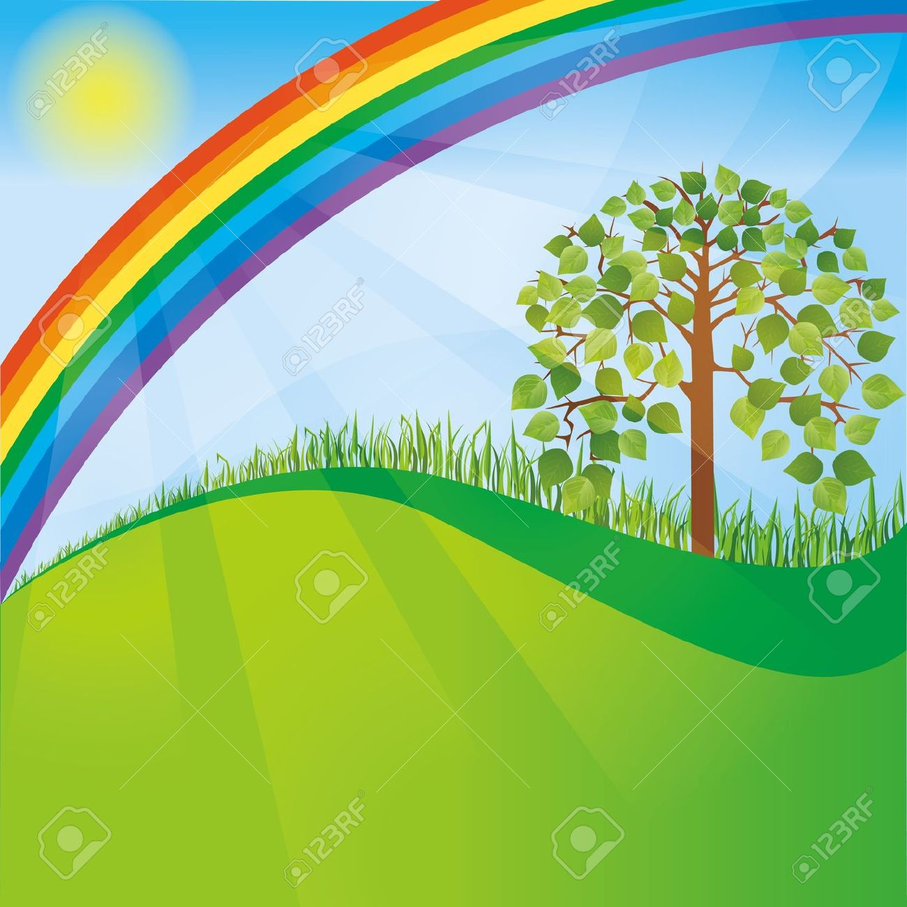 Nature clipart background.