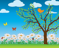 Spring scenery clipart.