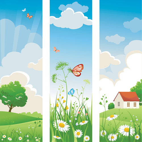 Nature banner clipart.