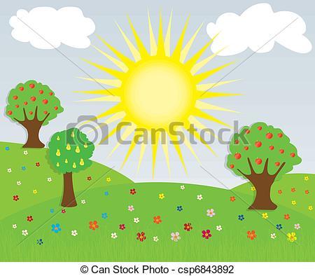 Vector Illustration of Nature landscape.