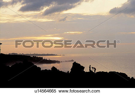 Stock Image of sunrise, nightfall, sky, landscape, scenery, nature.