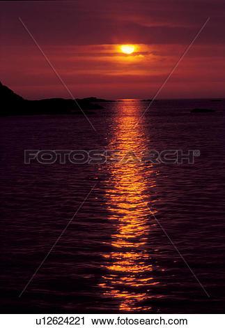 Stock Photography of sunrise, nightfall, sky, landscape, scenery.