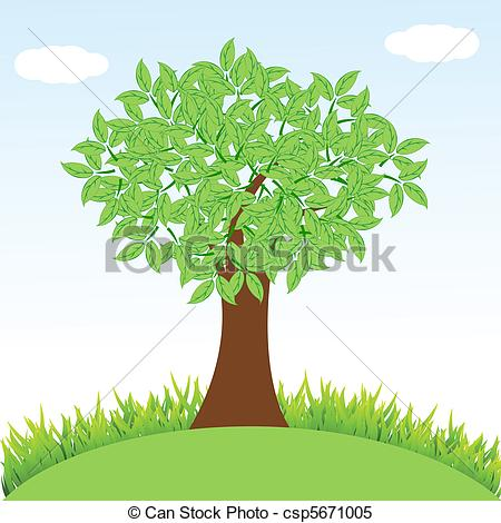 Tree And Grass Clipart.