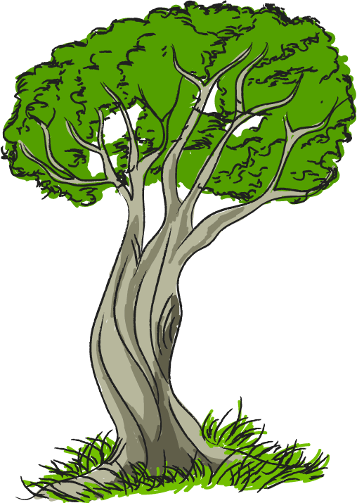 Free clip art nature trees tree with grass clipart image.