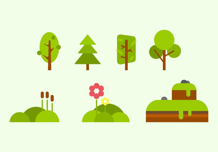 Free Green Nature Vectors.