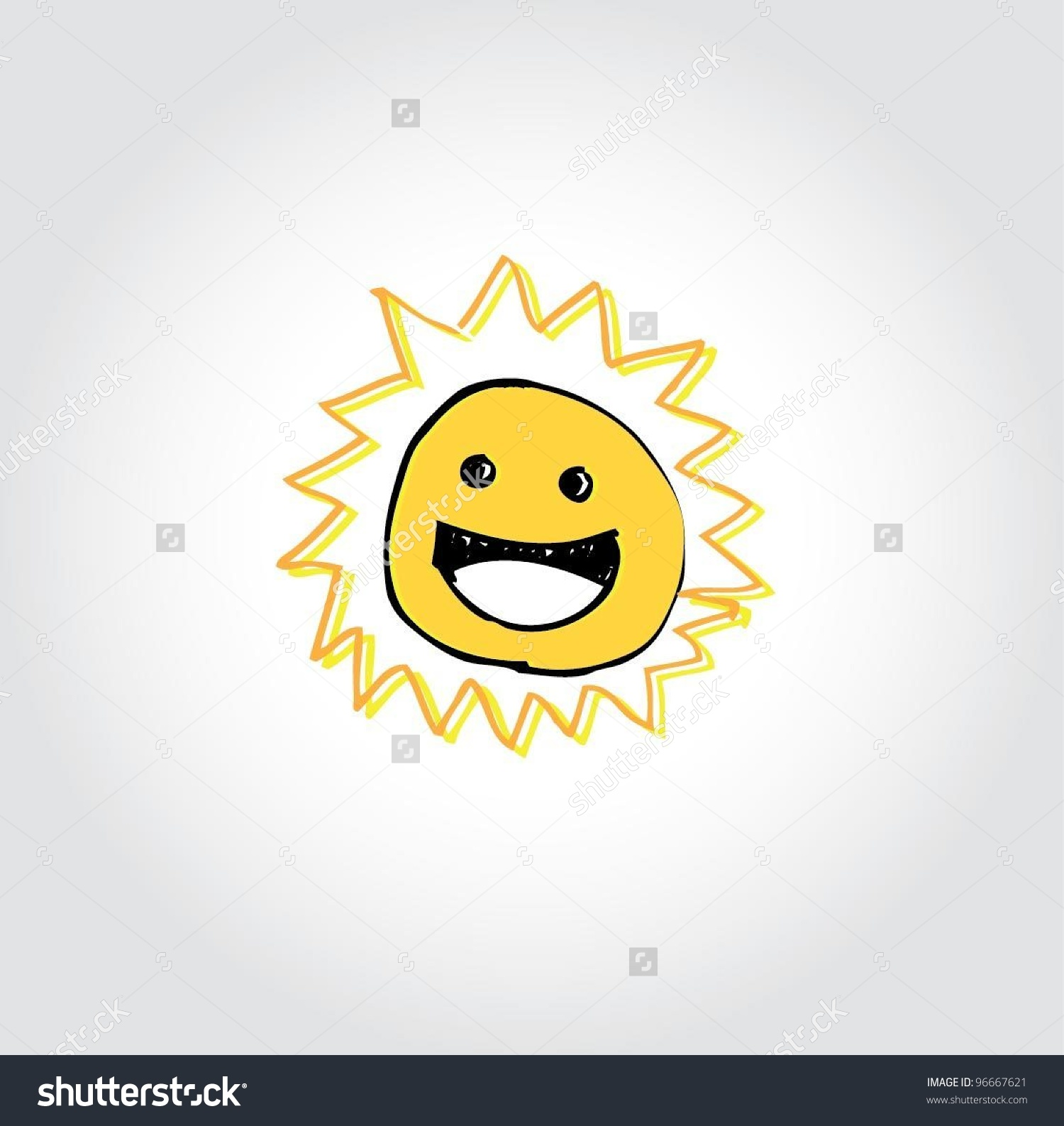 Yellow Sun Nature Clip Art Vector Stock Vector 96667621.