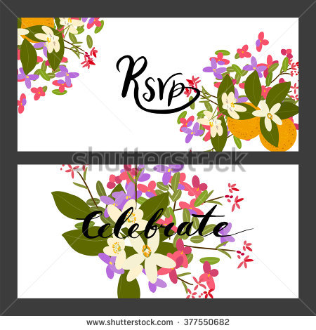 Bouquet Pink Purple Flowers Vector Print Stock Vector 430617001.