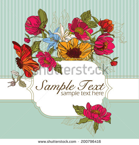 Vintage Flowers Cute Flower Design Vector Stock Vector 185301557.