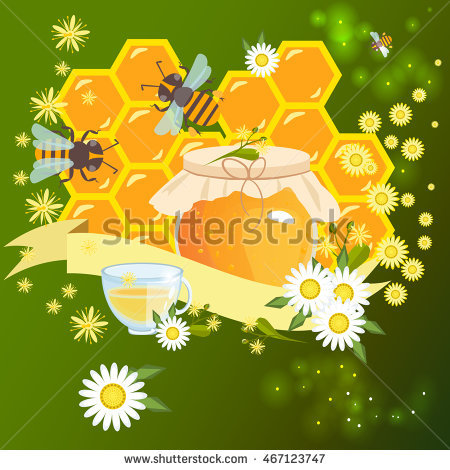 "cute Card With Fun Bee Vector Illustration"" Stock Photos, Royalty."