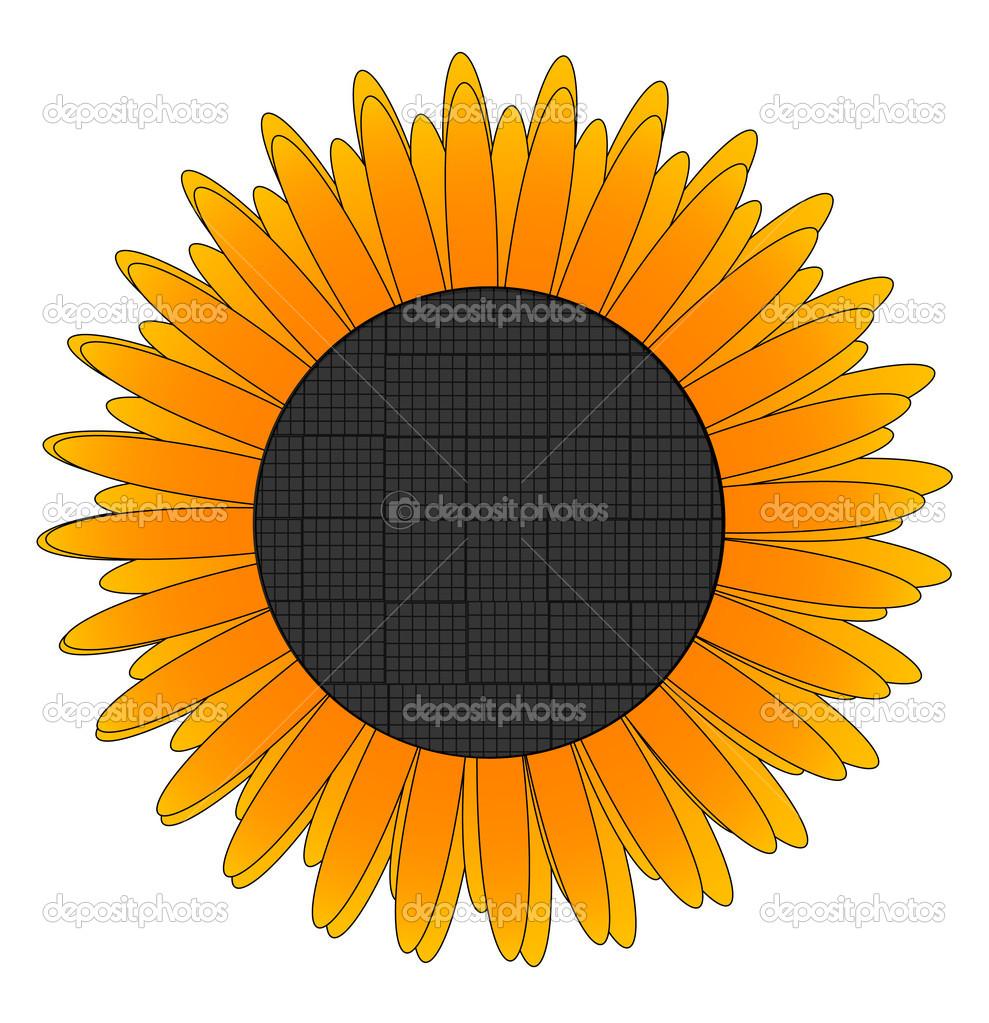 Glass eco nature yellow flower sign — Stock Vector © kednert #6160003.