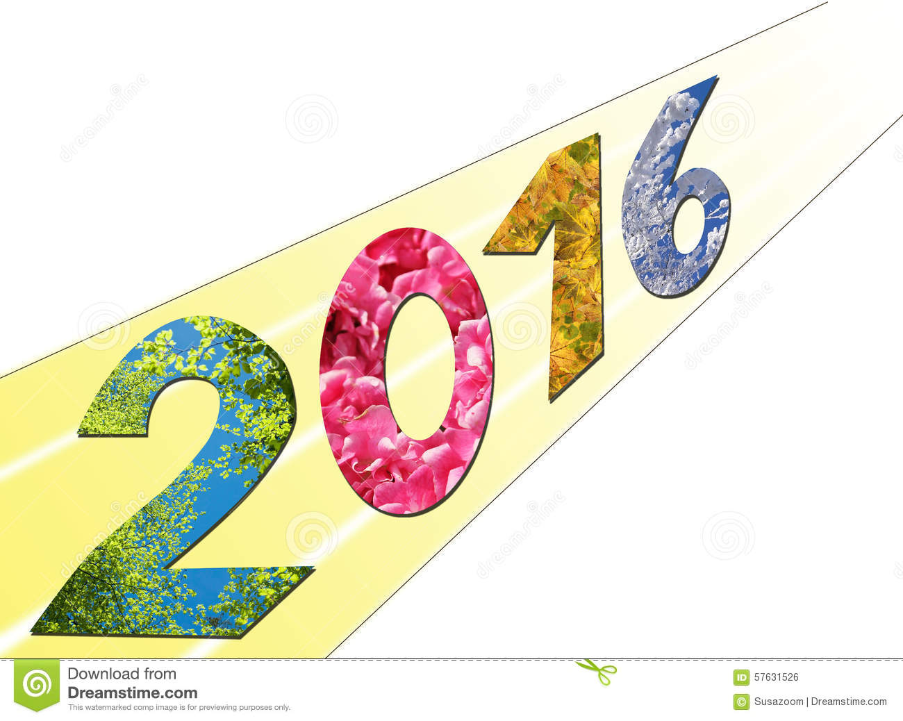 Background Design 2016, Seasonal Landscape Stock Illustration.