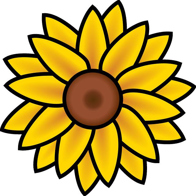 Free vector graphic: Sunflower, Summer, Nature, Yellow.