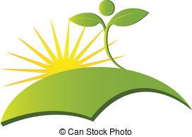Vector Illustration of Health Nature logo vector.