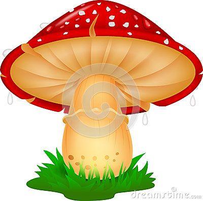 Desenhos animados do cogumelo da natureza.