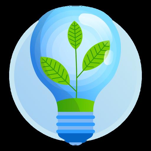 Ícone de lâmpada de natureza.