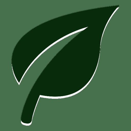 Logotipo da folha da natureza.