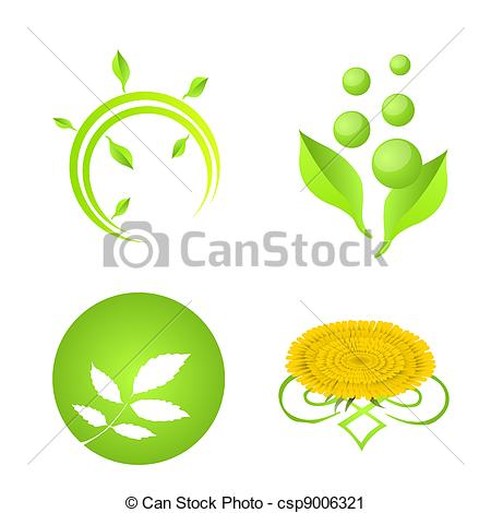 Vector Clip Art van logo, communie, natuur.