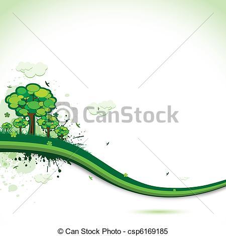 Clipart Vector van Abstract, achtergrond, natuur.