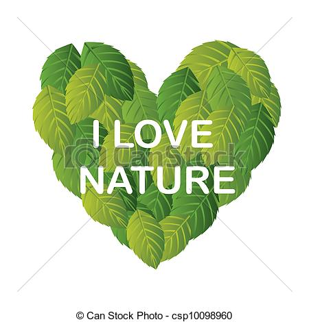 Clip Art Vector van Liefde, natuur.