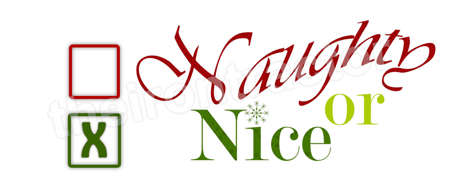 Naughty or nice clipart » Clipart Station.