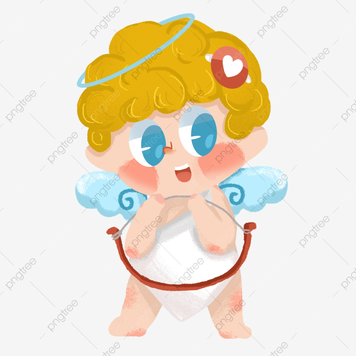 Valentines Day Cupid Little Angel Cartoon Cute Man Naughty.