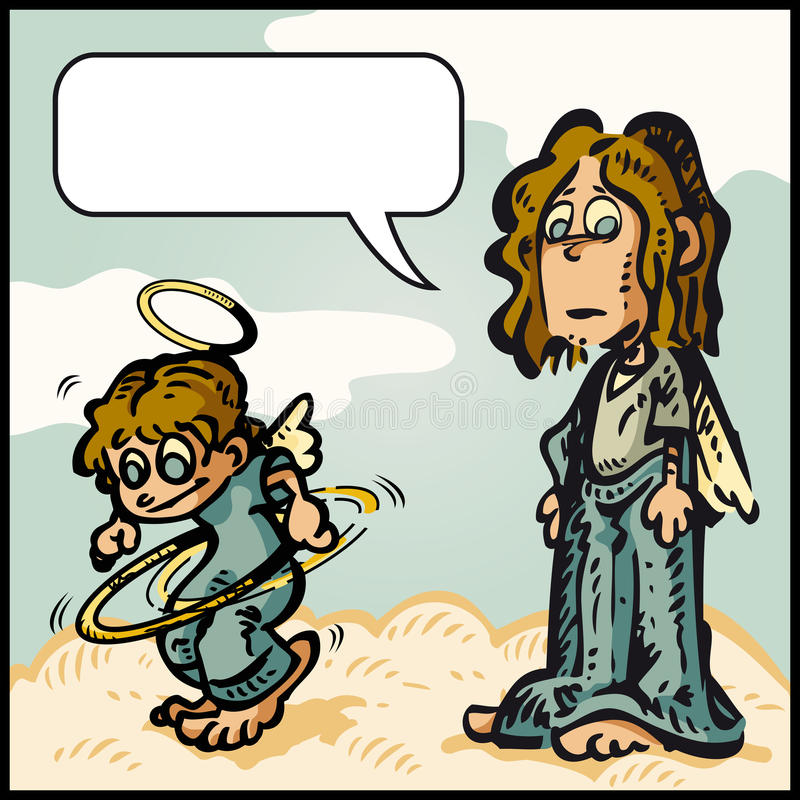 Cartoon Naughty Angel Stock Illustrations.