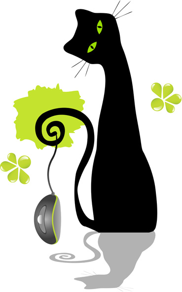 Black cat vector free vector download (7,077 Free vector) for.