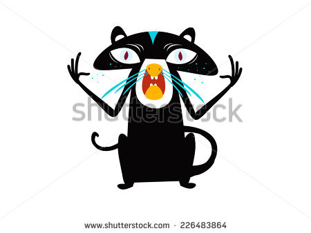 Naughty Black Cat Stock Photos, Images, & Pictures.