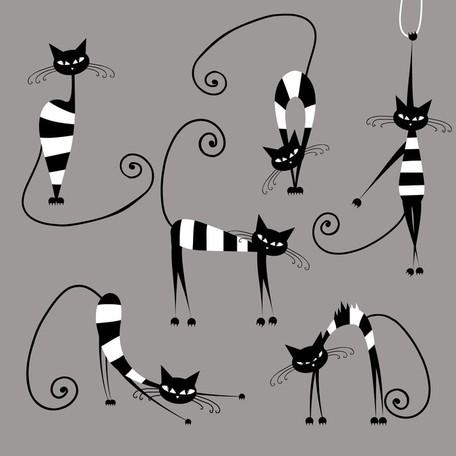 Naughty Cat, Clip Art.