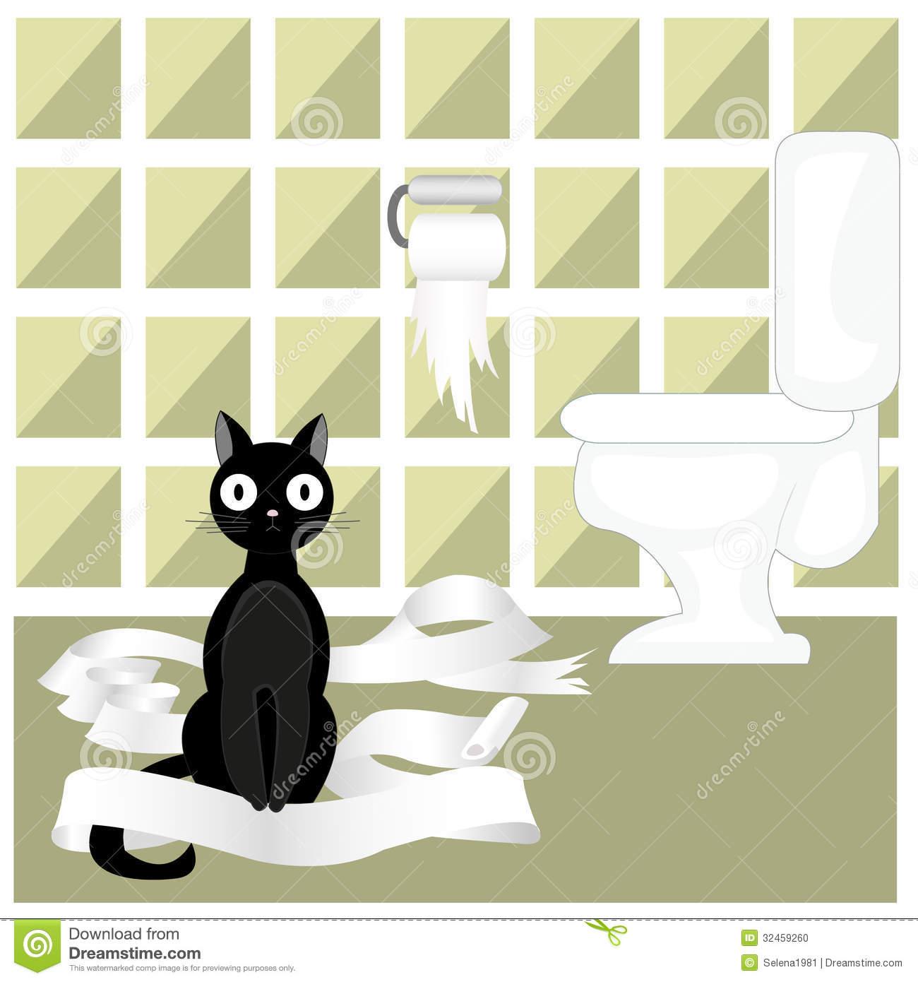 Naughty Cat Stock Illustrations.