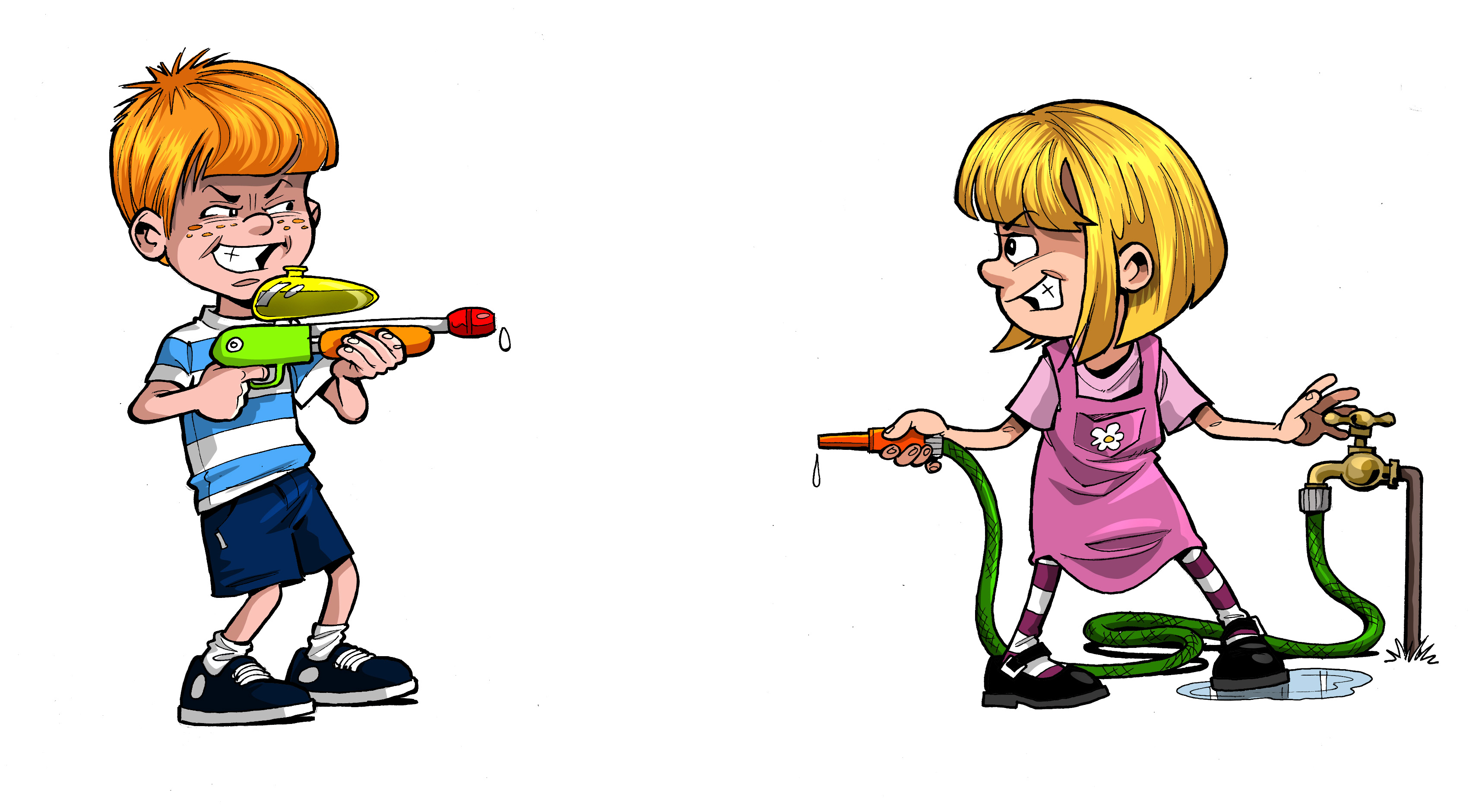 Naughty Kids Clipart.
