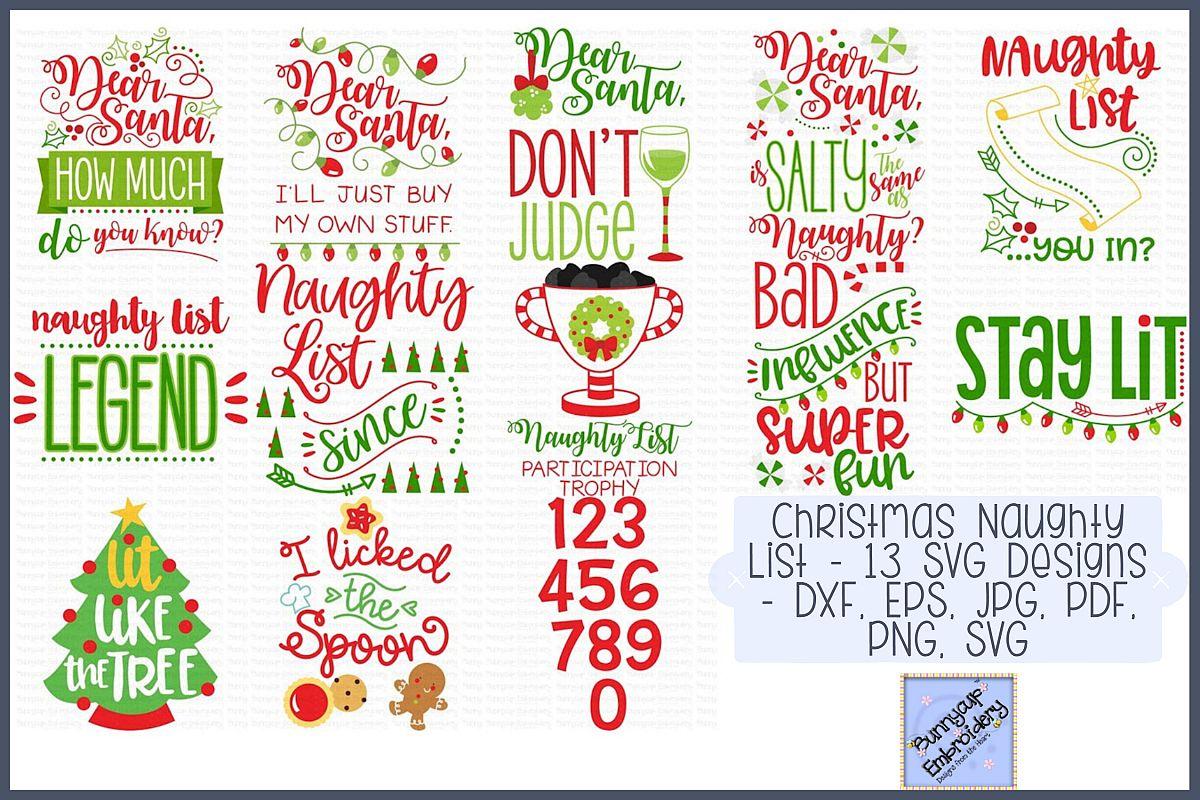 Christmas Naughty List.