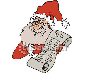 Naughty List Clipart.