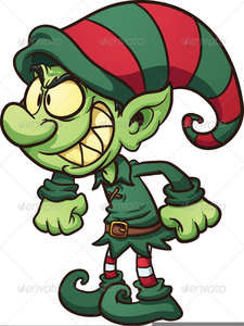 Naughty Elf Clipart.