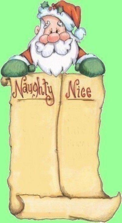Naughty Or Nice List Clipart.