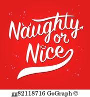 Naughty And Nice Clip Art.