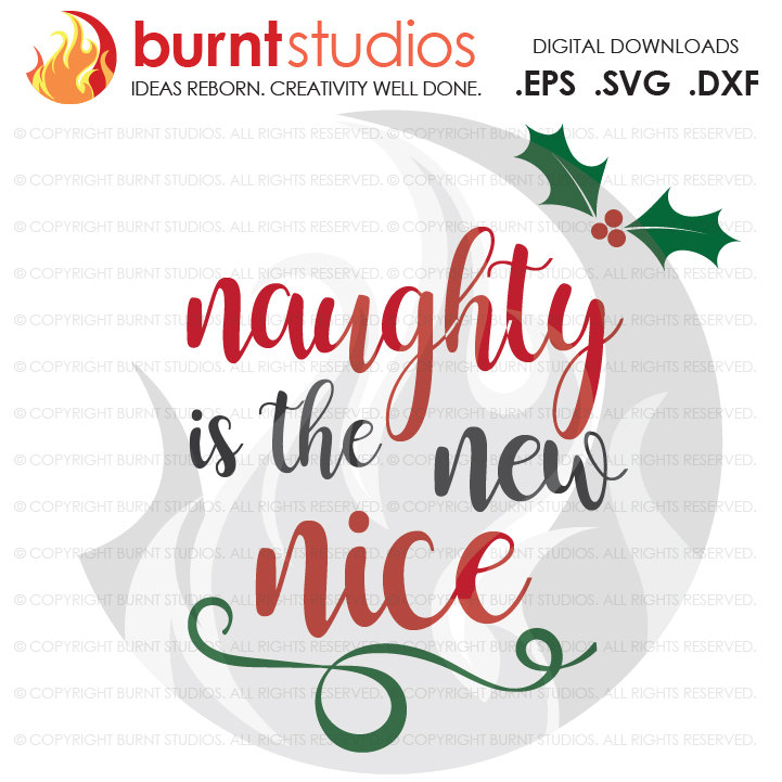 Digital File, Naughty or Nice, Mistletoe, Xmas, Christmas, Shirt Design,  Decal Design, Svg, Png, Dxf, Eps file.