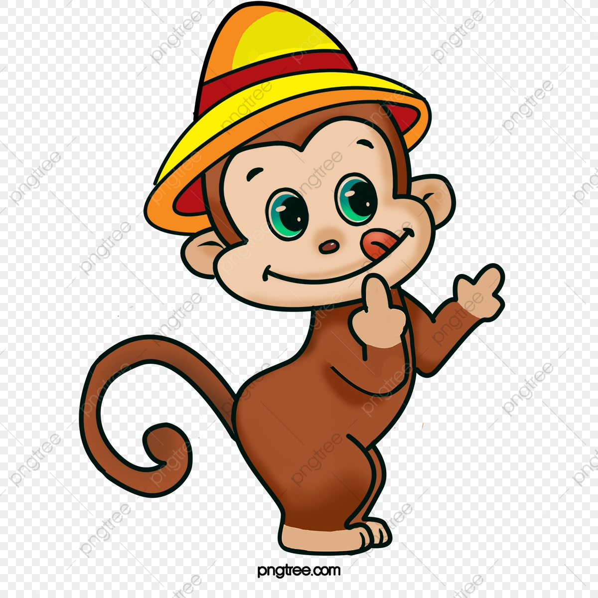 Naughty Monkey, Monkey Clipart, Monkey, Cartoon PNG.