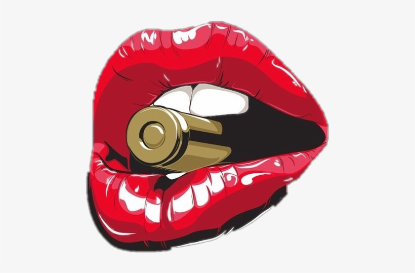 Lip Lips Bullet Sexy Naughty Kiss Kissable Teeth Mouth.