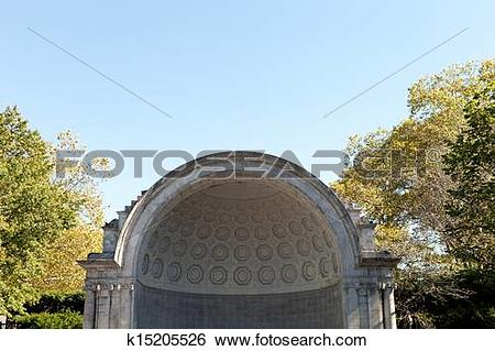 Stock Images of Naumburg Bandshell Theatre Stage k15205526.
