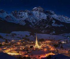 Maria alm, Austria. Skiing.