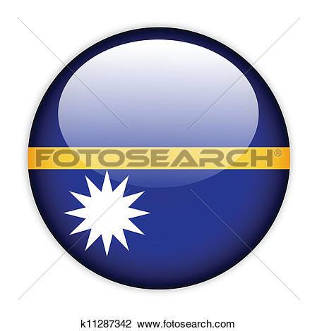 Clipart of Nauru flag button k11287342.
