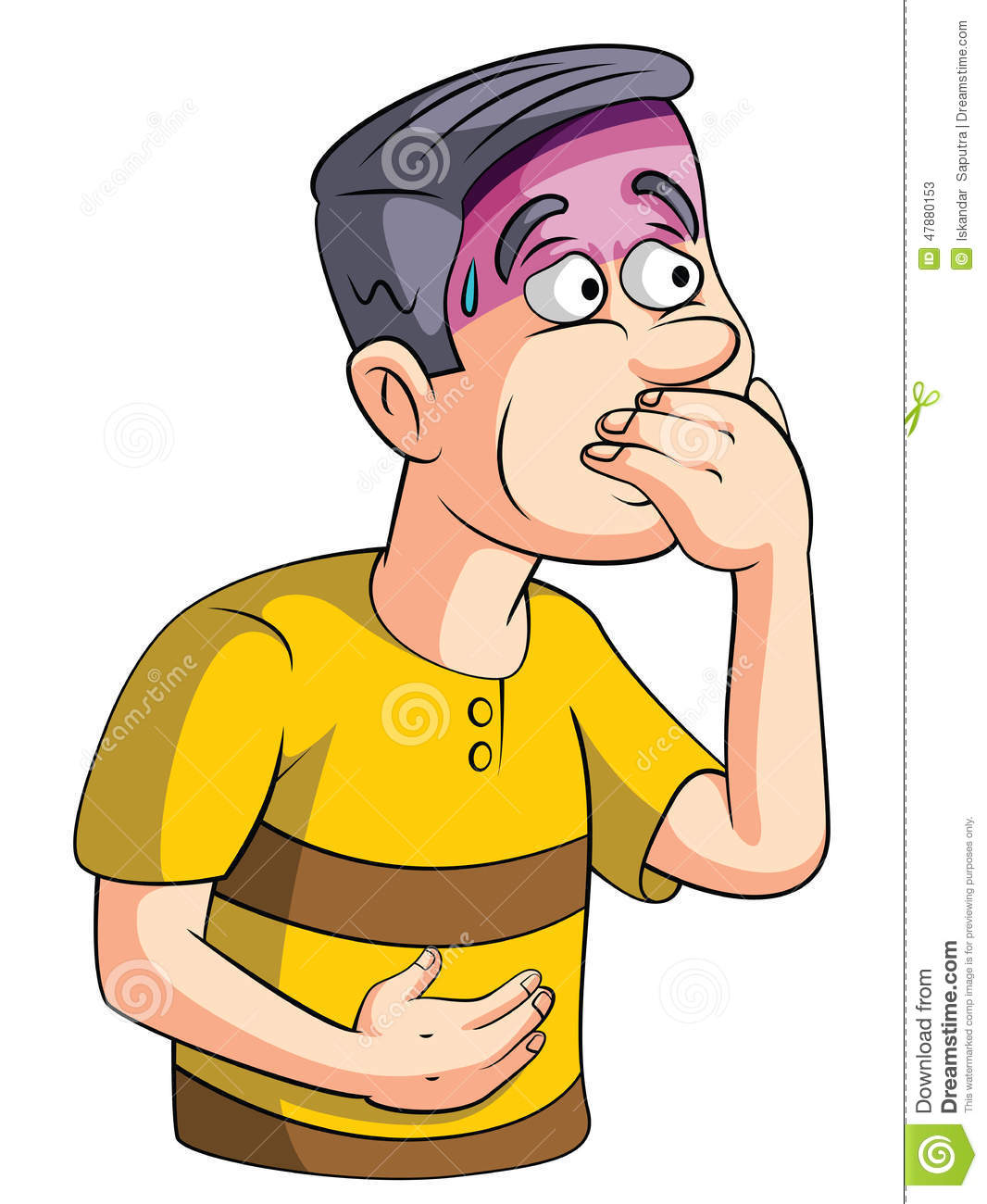 Nausea People Stock Vector.