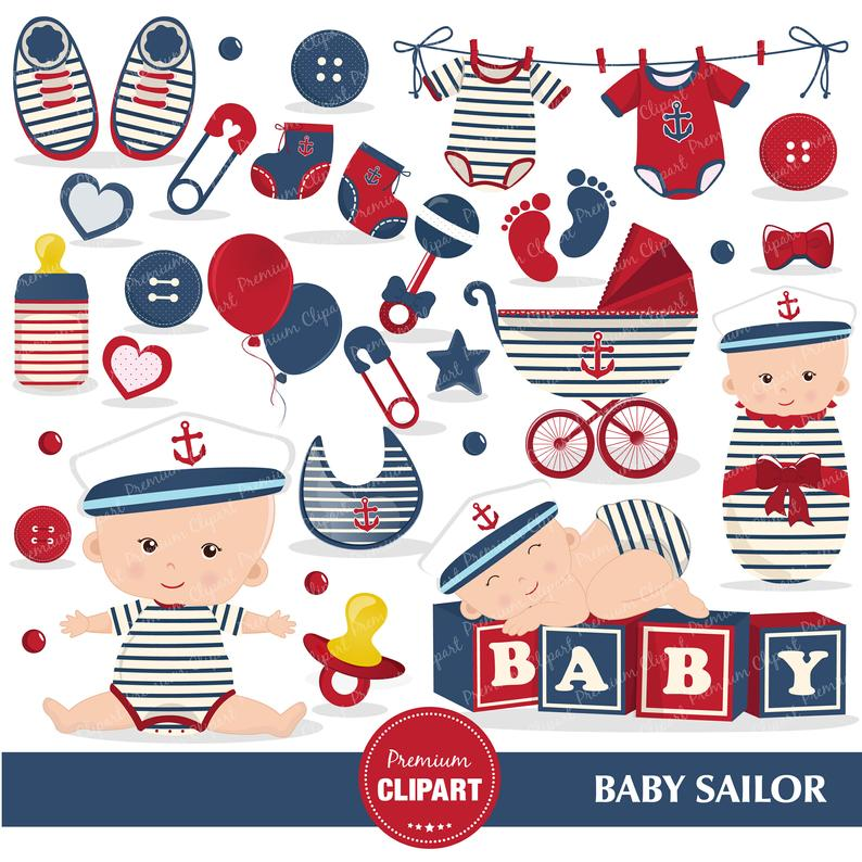 Nautical baby shower clipart, Baby sailor, Sailing clipart, Nautical  graphics, Baby boy clipart.