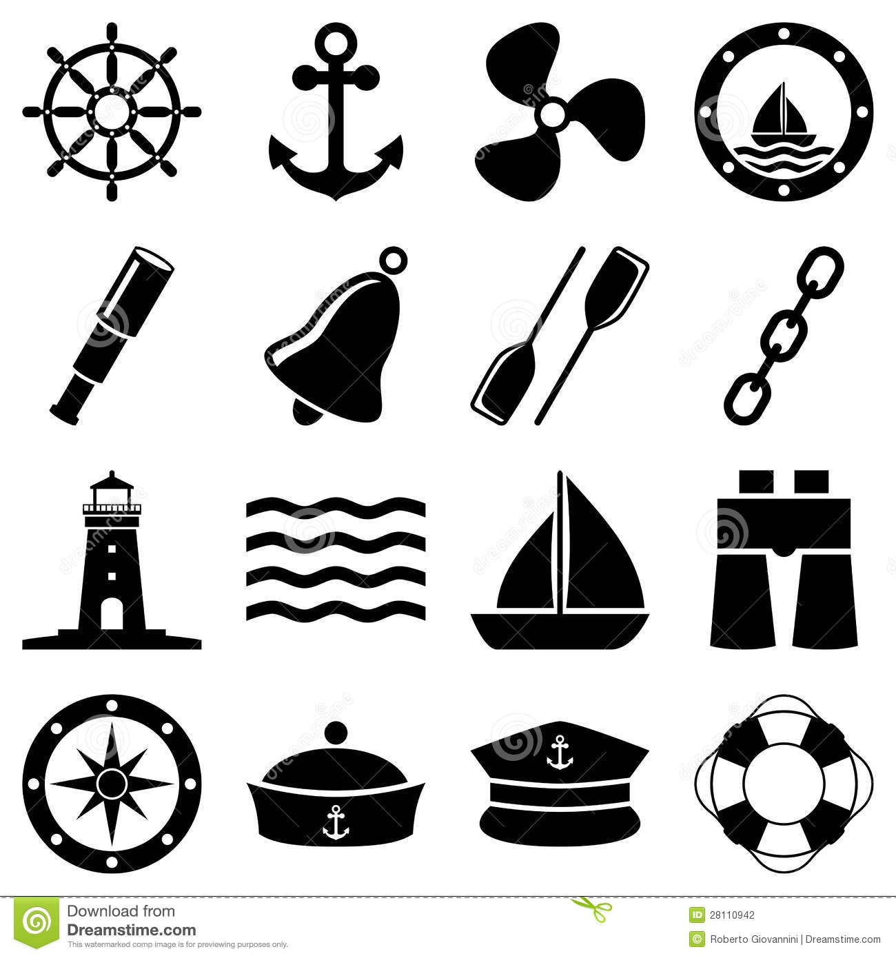 Nautical clipart black and white » Clipart Station.