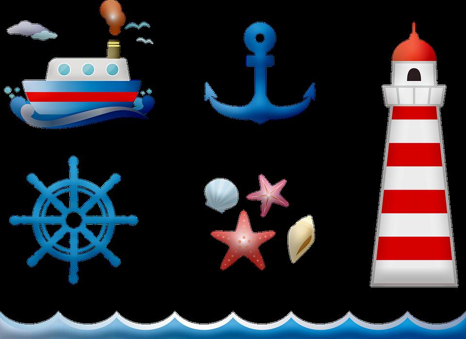 Nautical Clip Art Banner.