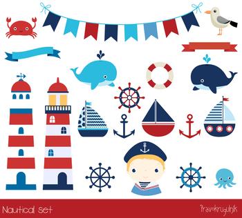Nautical clip art, Sailing clipart, Sailboats, Lighthouse, Anchor, Sailor  boy.